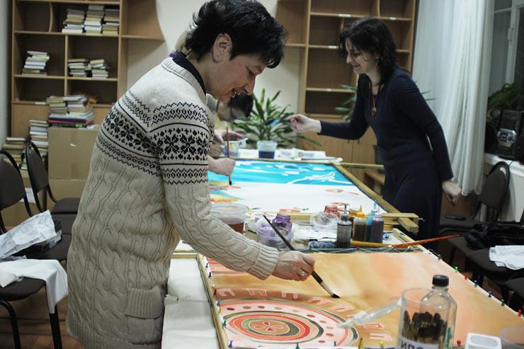 Курсы батика. Курсы творческого развития в Культурном центре «Новый Акрополь» в Москве