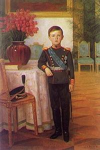 С. Егорнов. Портрет цесаревича Алексея Николаевича