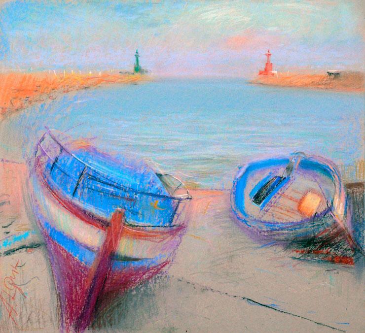 Рисуем масляной пастелью по картине К.Моне