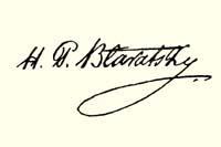 Подпись Елены Петровны Блаватской