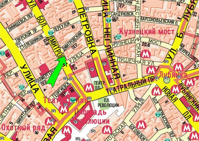 Схема проезда в Российскую
