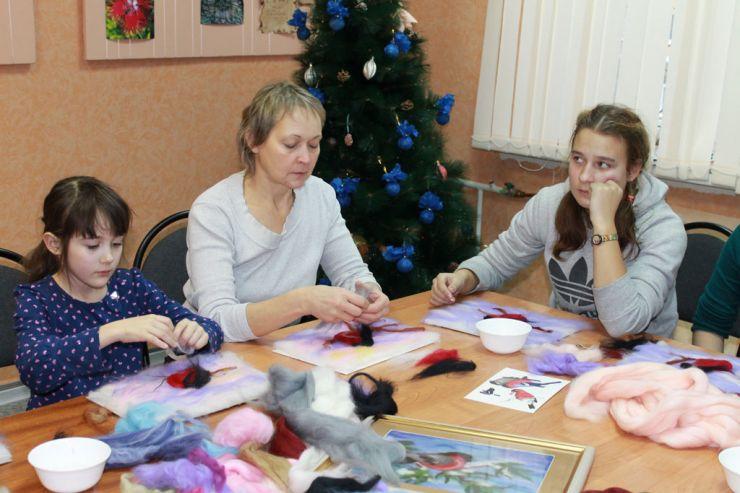 Мастер-класс «Картина из шерсти» в «Новом Акрополе» Петрозаводска